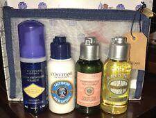 L'Occitane 5 Piece Set Cleansing Foam Amande Oil Shea Lotion Shampoo