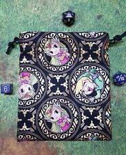 Zelda metallic gold dice bag, card bag, makeup bag
