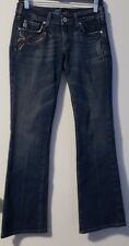 MISS ME JP4445 Women's Boot Cut Embroidered Pocket Stretch Jeans In Kansas Wash