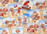FAT QUARTER  BEACH BABIES FABRIC  KIDS ELIZABETH STUDIO 100% COTTON QUILTING  FQ