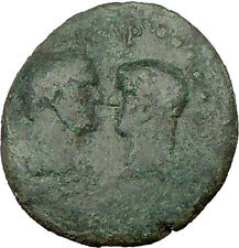 Titus & Domitian as Caesars 77AD Ancient Roman Coin Dionysus Cult Temple i21958