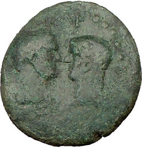 Titus & Domitian as Caesars 77AD Ancient Roman Coin Dionysus Cult Temple i21958