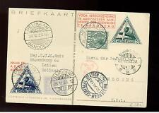 1933 Netherlands to Bandoeng KLM Airplane postcard Cover