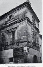 NARBONNE MAISON DES NOURRICES IMAGE 1908 OLD PRINT