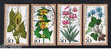 GERMANIA 4 FRANCOBOLLI PRO BENEFICENZA FIORI 1978 usato