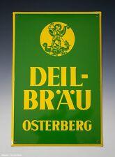Emailschild DEIL-BRÄU OSTERBERG um 1950