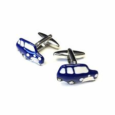 "JustforMoo ""Cars"" Pair of Blue Mini Car Cufflinks (220)"