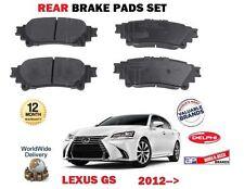 FOR LEXUS GS250 GS300H GS450H 2012-> NEW REAR BRAKE DISC PADS SET