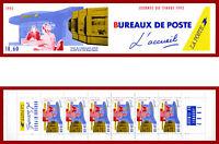 France 1992 carnet Journée du timbre, bureaux de Poste ** MNH, BC2744A, non-plié