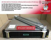 HPE MSA 2050 19.2TB SSD (24x 800GB) Dual SAN Controllers SFF SAN Head - Q1J01A