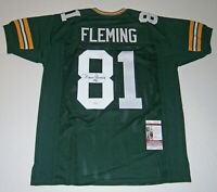 PACKERS Marv Fleming signed custom green jersey w/ #81 JSA COA AUTO Autographed