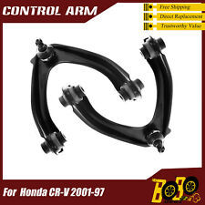 Front Upper Left Right Control Arm w/ Ball Joint & Bushing for Honda CR-V 01-97