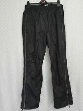 Unisex CRANE Cycling Trousers Size XL W34 L32 Black Elastic Waist Windproof
