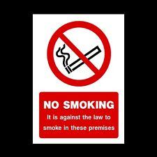 It is against the law to smoke on these premises / No Smoking Sign (MISC9)