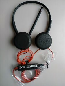 Plantronics Blackwire C3225 C3200 Stereo Corded Headset USB A & 3.5mm Microphone