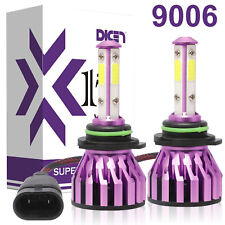 4-Sided Headlight 9006 9012 HB4 LED Bulbs 2000W 300000LM High Power Super Bright