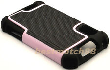for Motorola atrix 4g mb860 rugged case triple layer soft hard pink black