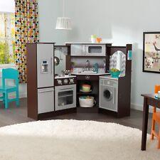 Kidkraft Espresso Ulitmate Corner Play Kitchen w/lights and sounds