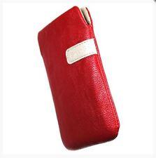 Housse Etui Pochette Protection façon cuir rouge pour SONY Xperia X Performance