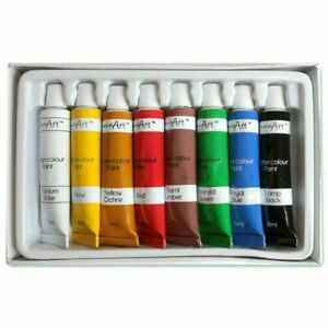 WATERCOLOUR PAINTS SET Assorted Colours PAINT Artist Art Crafts Crafting School