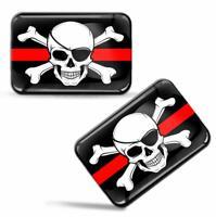 Autocollants 3D Drapeau Pirate Crâne et Os Croisé Jolly Roger Skull Flag Sticker