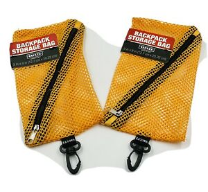"2 Pack Vaultz Brand Zipper Back Pack Storage Bag 5x8"". NEW!"