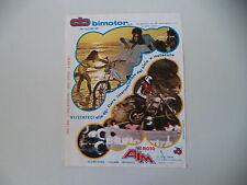 advertising Pubblicità 1977 BIMOTOR MOTO BIMM e MOTO AIM