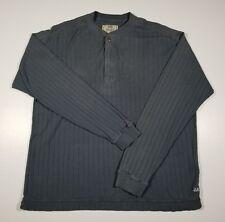 Vintage Levi's Mens Medium Blue Henley Shirt ( M ) Long Sleeve