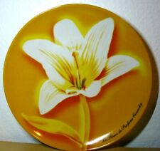Les Fleurs Parfums Givenchy White Lily Yellow Decorative Salad Plate 8""