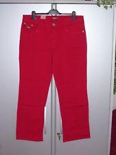 FEN Damen Jeans Jeanshose Stretch Stretchjeans rot gerades Bein 48 L30 neu