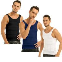 Men's Muscle Compression Abdomen Shapewear Slimming Body Shaper Vest Shirt Tummy