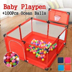 Baby Playpen Children Toddler Kids Safety Fence Indoor Outdoor Ocean Ball Pool