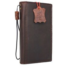 genuine vintage leather Case for HTC 10 book wallet luxury cover id window Davis