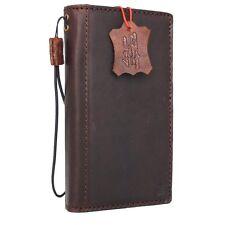 genuine vintage leather Case for HTC 10 book wallet cover Retro brown slim Davis