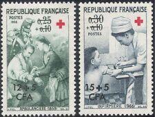 Reunion 1966 Red Cross/Medical/Welfare/Health/Soldiers/Nurses 2v set (n44283)
