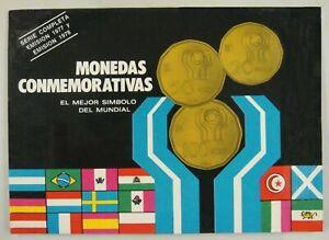 1977 1978 ARGENTINA - MINT UNC SET (6) - 1978 SOCCER FUTBOL WORLD CUP - BEAUTY!