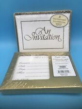 56- AN INVITATION Cards ENVELOPES GOLD LETTERING AND TRIM New