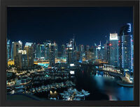 GLITTERING CITY DUBAI NEW A3 FRAMED PHOTOGRAPHIC PRINT POSTER