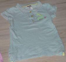 """6205 -Polo MC 6 ans turquoise ORCHESTRA """"girly spirit"""" en piqué de coton"""
