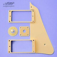 Set CREAM EPIPHONE LES PAUL PICKGUARD Rings HUMBUCKER TOGGLE JacKPlate metricTip
