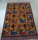 AFGHAN WAR HAND MADE RUG 100%WOOL HAND KNOTTED SHOWING TANKS, HELICOPTERS