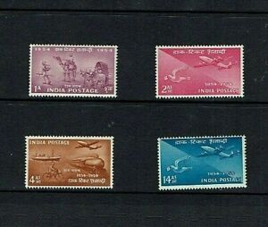 India: 1954 Stamp Centenary, Mint lightly hinged set