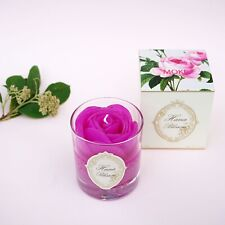 Luxurious Gift Pink Rose Scented Container Candle with Floral Fragrance