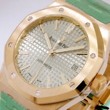 AUDEMARS PIGUET 15450OR.OO.1256OR.01 PINK GOLD 37 mm ROYAL OAK GREY DIAL