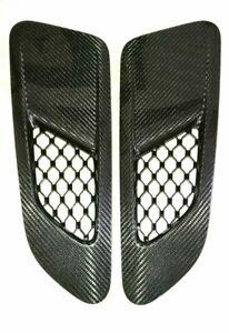 Genuine Jaguar F-Type AWD Carbon Fiber Fibre Bonnet Louvres Vents. Pair Neu! NEW