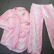 Victorias Secret PJ Set Size Medium / Large Cotton Modal Long Sleeve Button Up