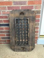 Vntg Industrial Age Wood Foundry Mold Loft Decor Altered Art Steampunk Man Cave