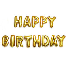 """""""Happy Birthday"""" Foil Alphabet Letters Words Balloons Party Balloons Gold 