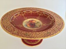 Royal Worcester Hand Painted Fruit Comport Signed Richard Sebright