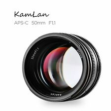 Kamlan 50mm f1.1 Prime Portrait Lens for Sony NEX